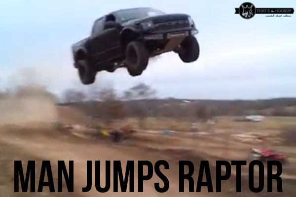 Ford Raptor Jump – Man Destroys $40,000 Truck