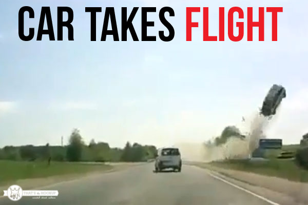 Car takes flight video!